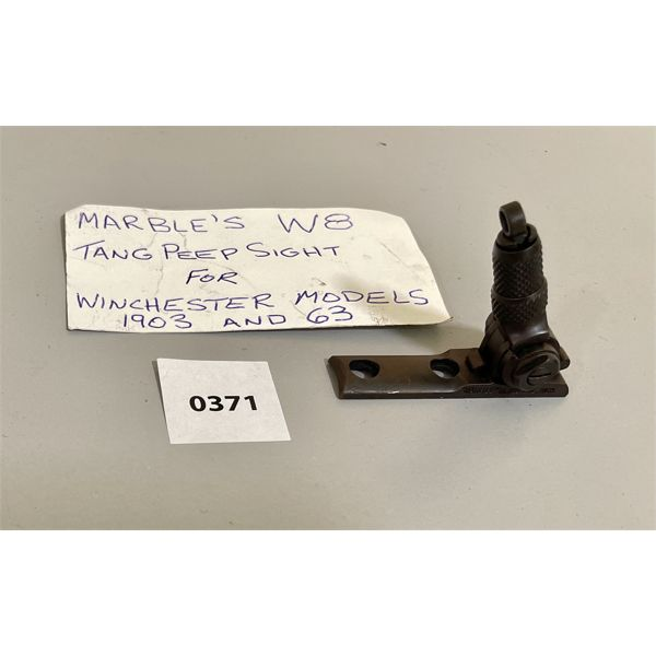 MARBLES W 8 PEEP SIGHT FOR WINCHESTER 1903 OR 63