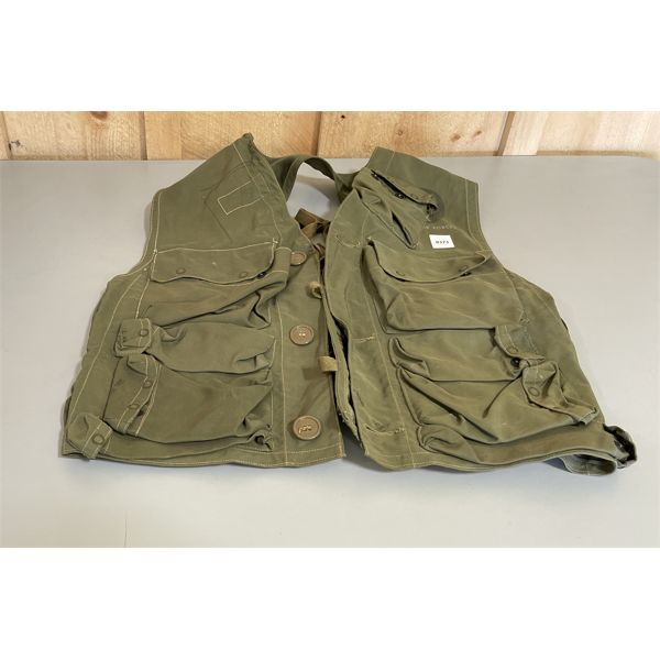 US ARMY AIRFORCE VEST W/ COLT .45 BUILT IN HOLSTER