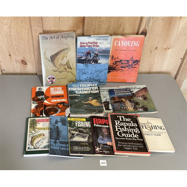 LOT OF 14 - FISHING / OUTDOOR BOOKS