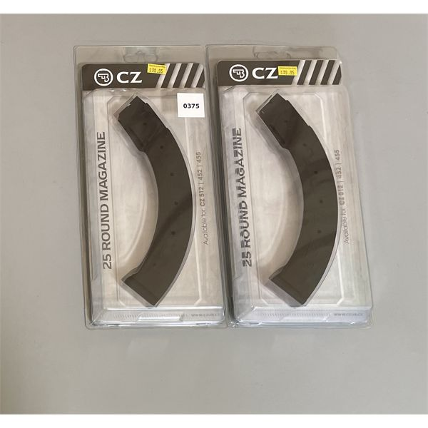 LOT OF 2 CZ 25 RND .22 LR MAGS - NEW