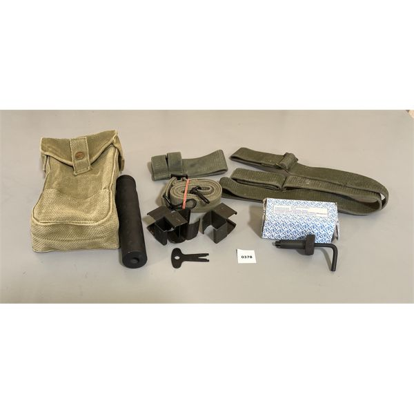 JOB LOT - FRONT SIGHT TOOL, CANVAS SLING & POUCH, ETC