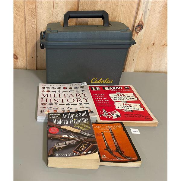 AMMO BOX & REFERENCE BOOKS