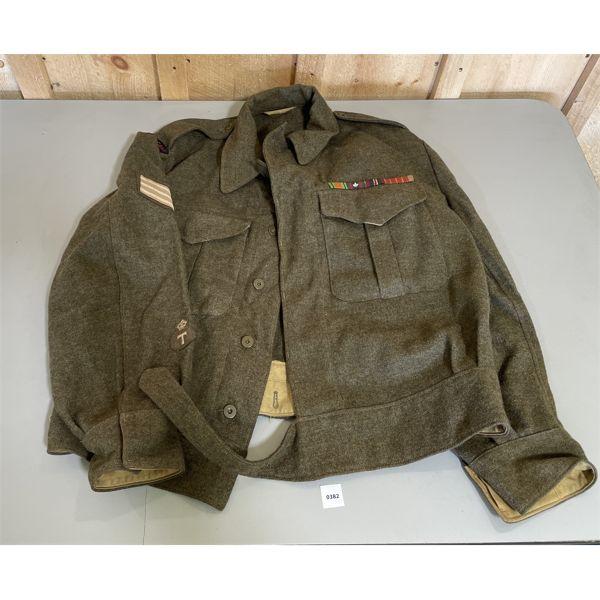 WW II BATTLE DRESS - ROYAL CND ORDNANCE CORP