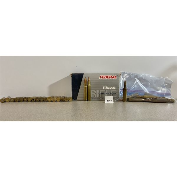 AMMO & BRASS: 243 WIN, 30-06 SPRG & OTHERS