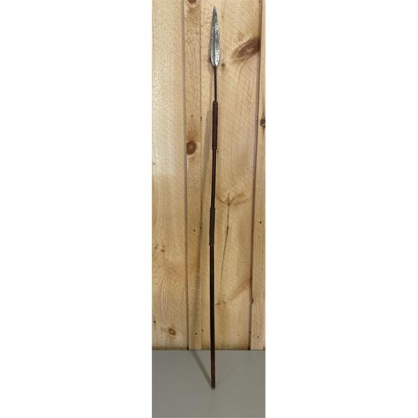 """HAND FORGED ANTIQUE SPEAR - NO PROVENANCE - APPROX 50"""""""
