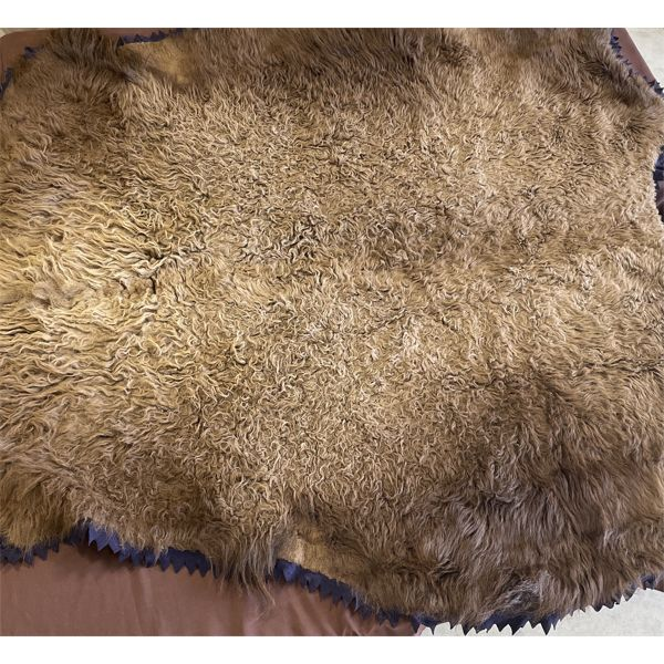 """BUFFALO SKIN RUG - APPROX 69"""" X 82"""" - APPEARS TO BE IN VERY GOOD CONDITION"""