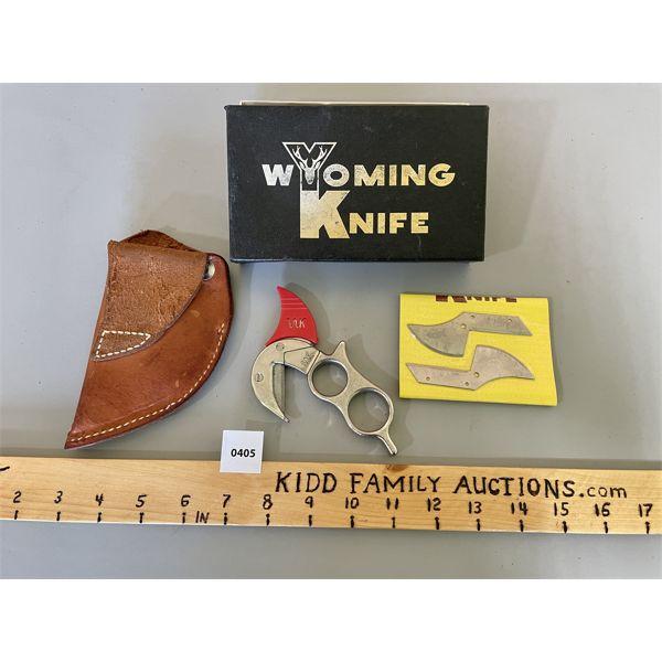 WYOMING KNIFE W/ SHEATH & EXTRA BLADES