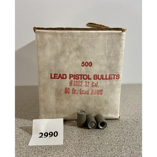 BULLETS: 500X HORNADY 32 CAL 90GR HBWC
