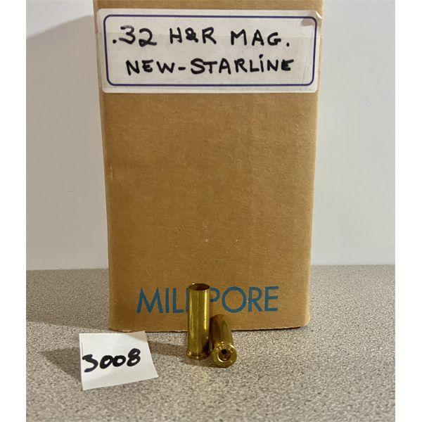 BRASS: APPROX 250X STARLINE 32 H&R MAG- NEW