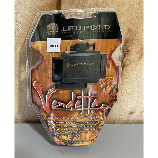 LEUPOLD VENDETTA BOW MOUNTED RANGE FINDER. NEW IN BOX.