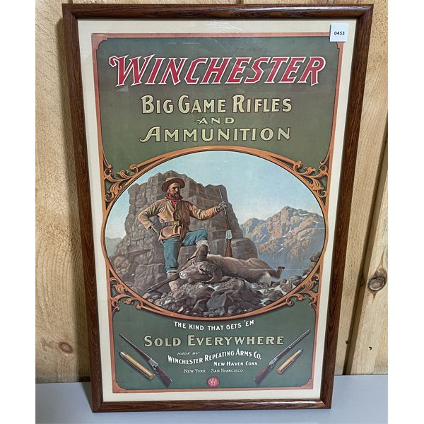 """FRAMED 1904 WINCHESTER PRINT REPRODUCED AS A POSTER -14.5"""" X 25"""""""