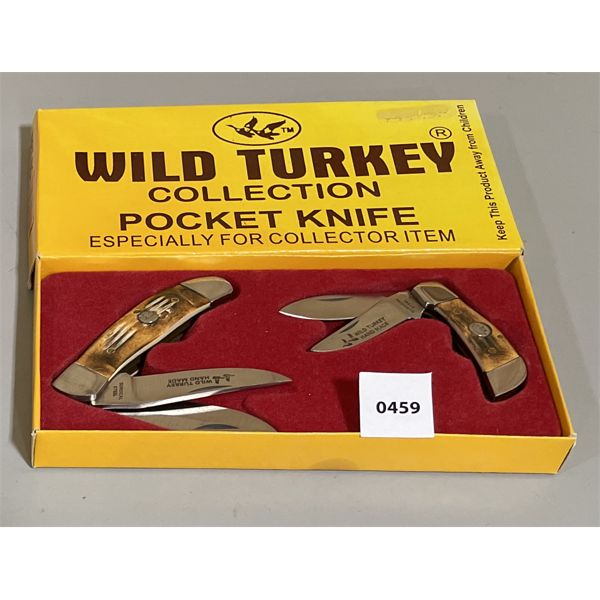 SET OF 2 WILD TURKEY COLLECTOR KNIVES