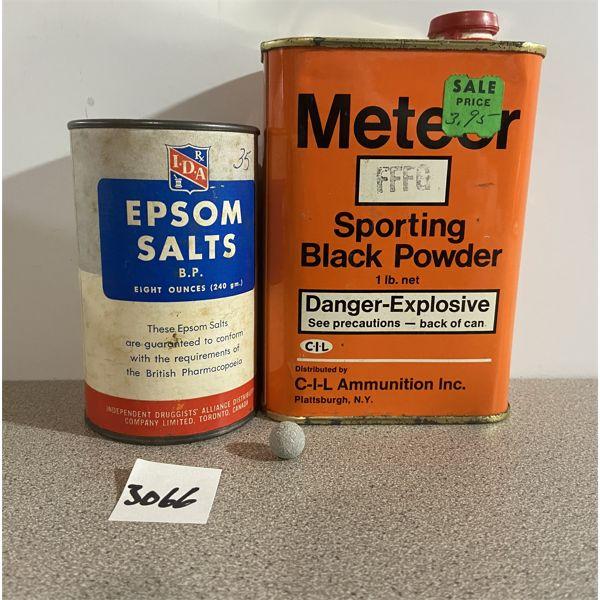 POWDER & BALLS: 1/2 LB METEOR BLACK FFFG & 36X 45 CAL