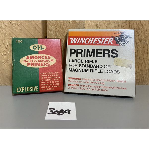 PRIMERS: 100X CIL #8.5 & 40X WINCHESTER LARGE RIFLE