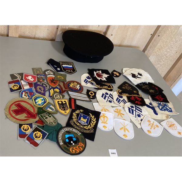 LOT OF PATCHES & CAP