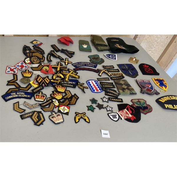 LOT OF MISC MILITARY INSIGNIA