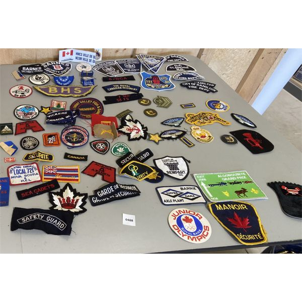 LOT OF MISC MILITARY, POLICE, FIRE, SECURITY PATCHES