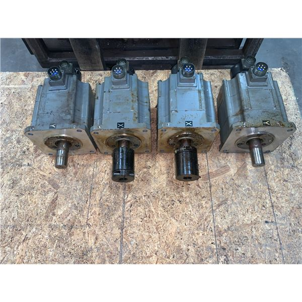 (4) - MITSUBISHI HA100C AC SERVO MOTORS WITH OSE 5KN -6-12-108 FA CODERS