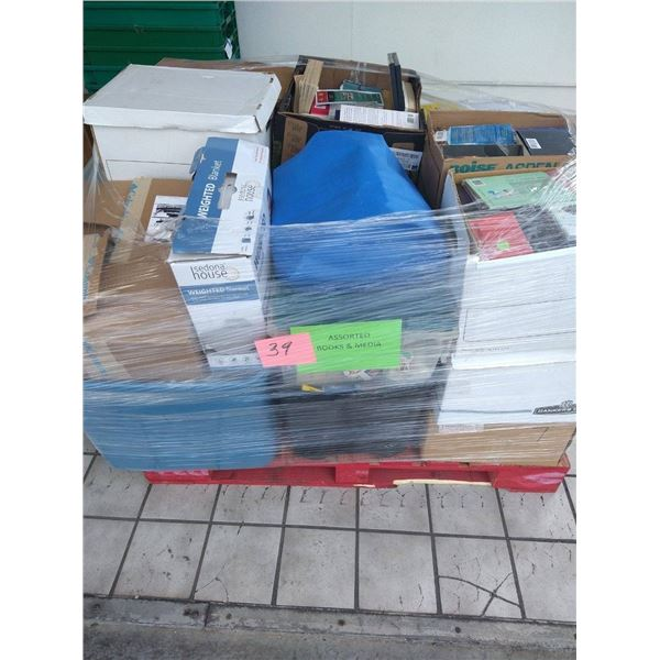 Contents of Pallet: Books & Media