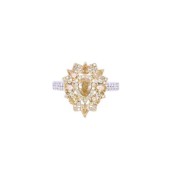RARE Natural Fancy Diamond & 14K Gold Ring