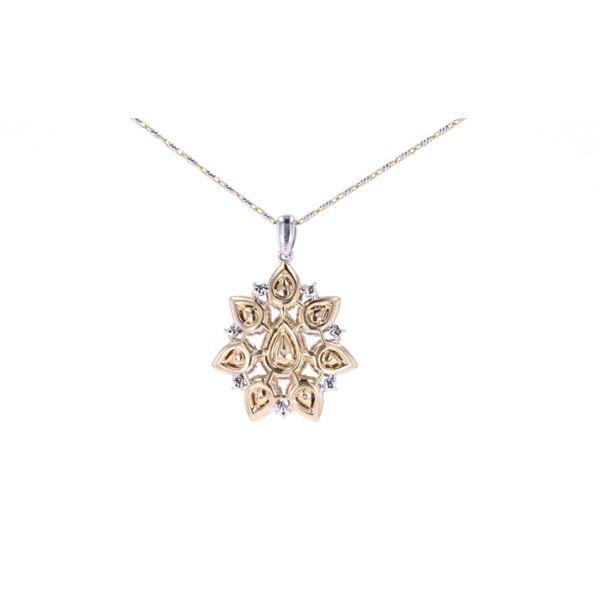 Fancy Multi-Color Diamond & 14K Gold Necklace