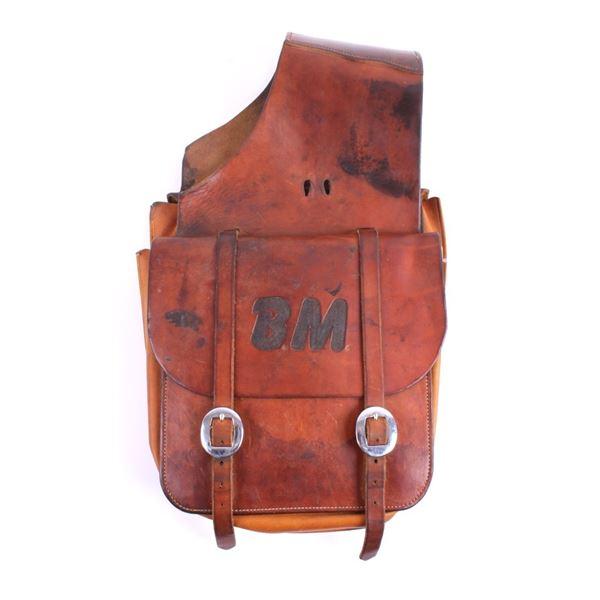 Montana Custom Leather Saddle Bags c. 20th Century