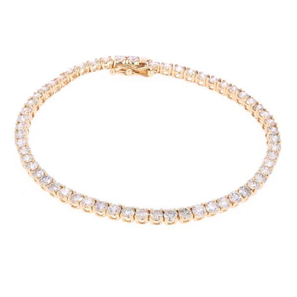 Classic 14K Yellow Gold Diamond Bracelet w/ Papers