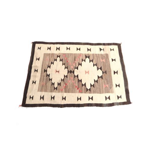 1930's Navajo Hand Woven Crystal Wool Rug
