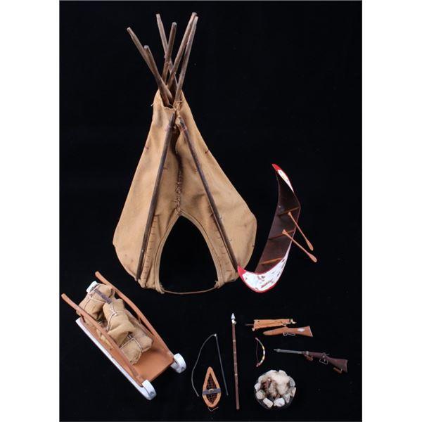Store Display Teepee & Western Figure Accessories