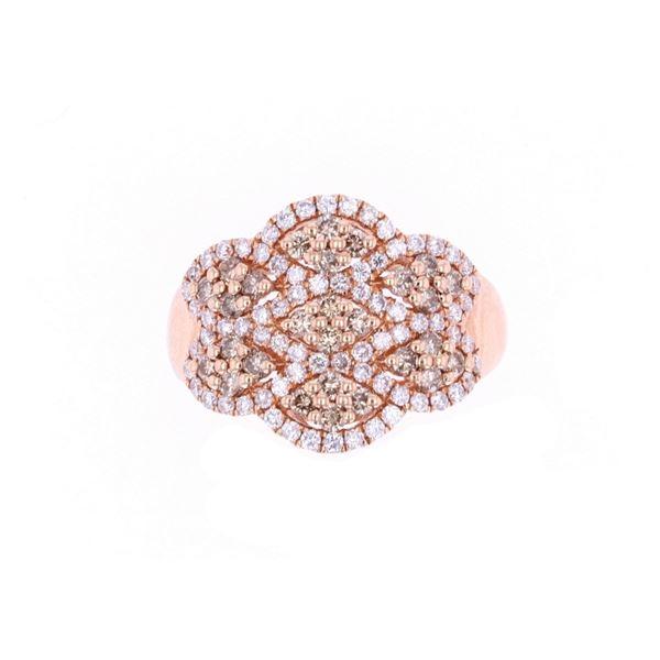 Vintage Brown Diamond 14k Yellow Gold Ring