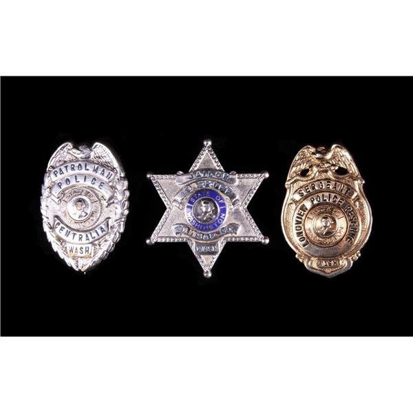 Washington State Police & Sheriff Badge Collection