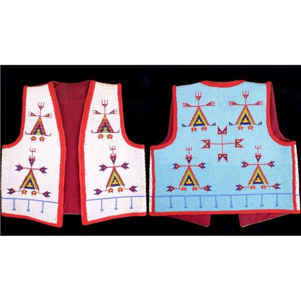 Sioux Fully Beaded Full Size Vest c. 1900-1960's