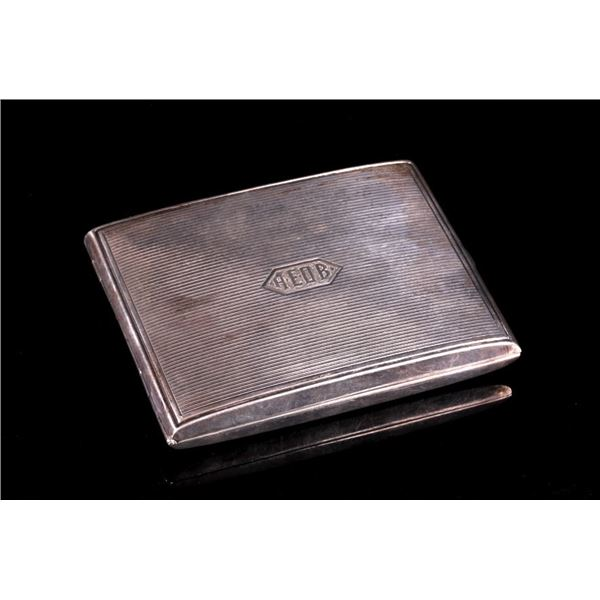 Art Deco Sterling Cigarette Case by Kerr & Co.