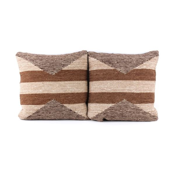 Earth Olas Wool Set of Two Pillows T. Gutierrez