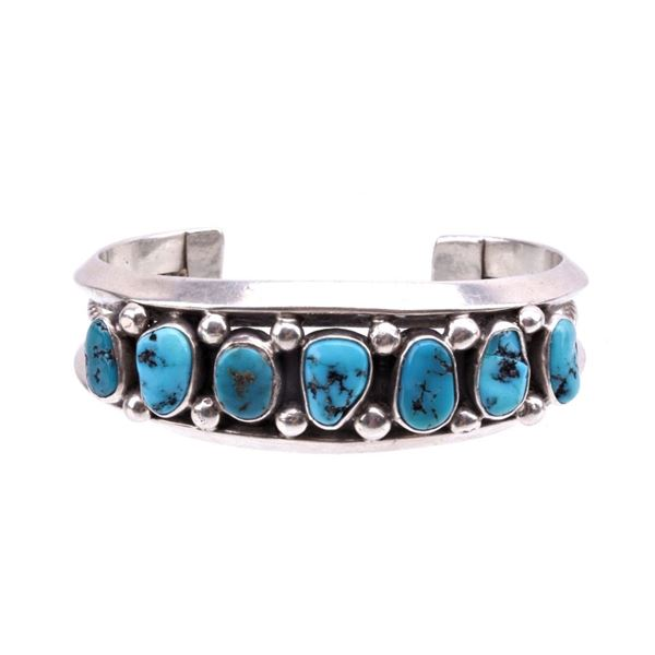 Navajo Sterling Silver Sleeping Beauty Cuff