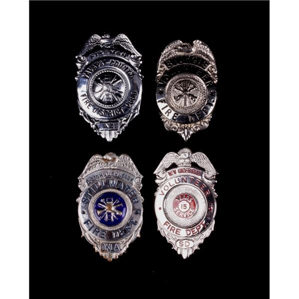 U.S. Fire Department Collection of Badges