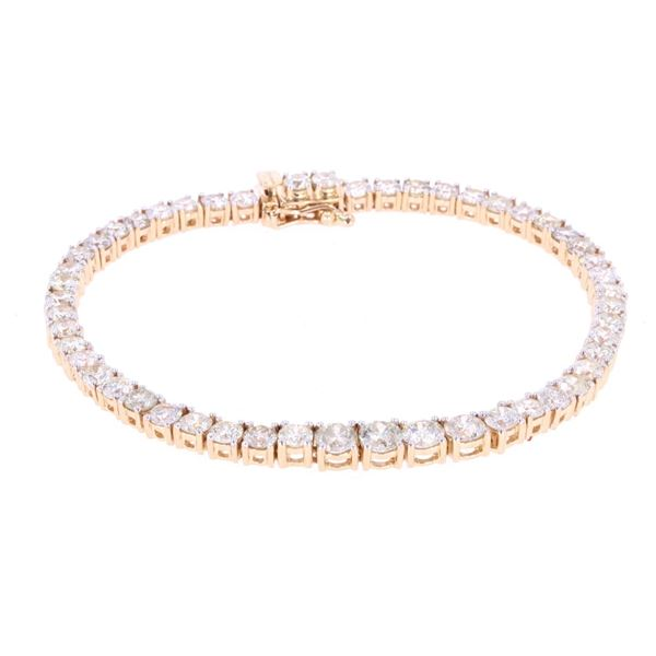 Outstanding Diamond 14k Gold Tennis Bracelet