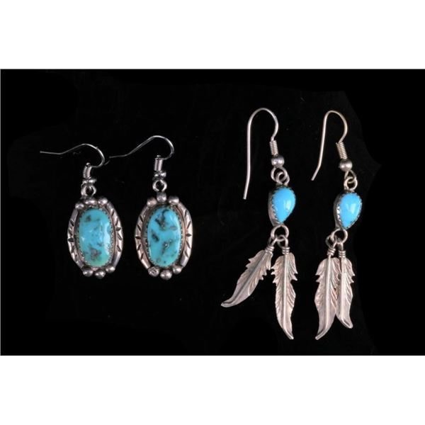 Navajo .925 Silver & Turquoise Earrings Collection
