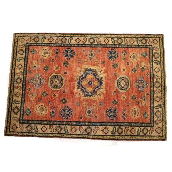 Fine Kazak Persian Hand Knotted Wool Rug 1930