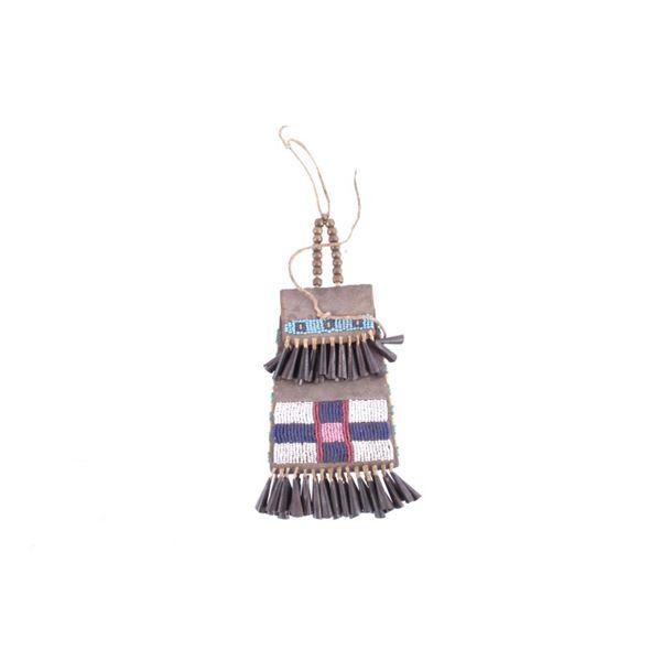 Kiowa Beaded Strike-A-Lite Bag 19th Century