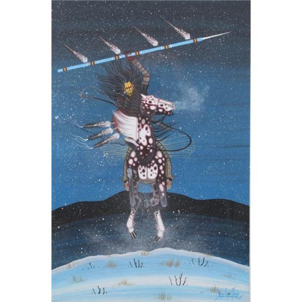 Original Dau-Law Taine Kiowa Framed Painting