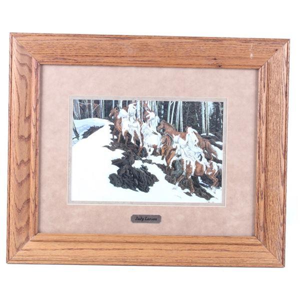"""Judy Larson """"Phantom Patrol"""" Framed Print"""