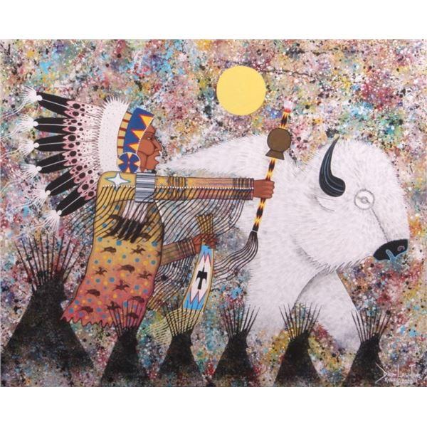 Dau-Law-Taine Kiowa Painting on Canvas 2020
