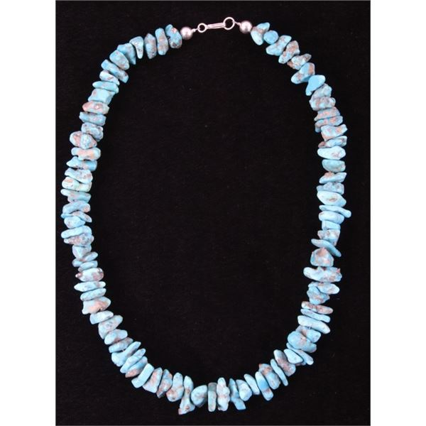 Navajo Cripple Creek Turquoise Nugget Necklace