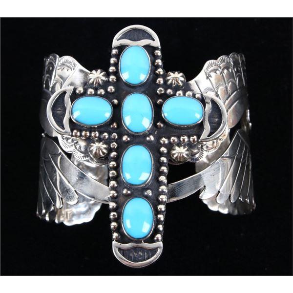 Armand American Horse Turquoise Cross Bracelet