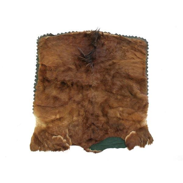 Montana Stagecoach Mule Hide & Velvet Blanket
