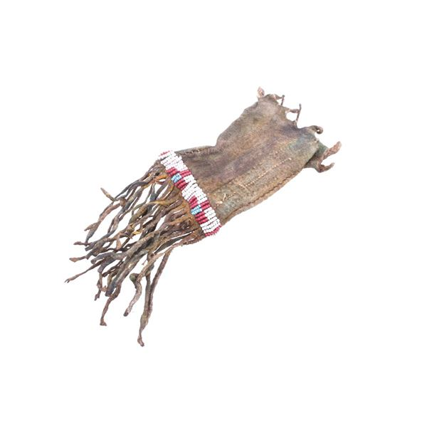 19th Century Sioux Indian Beaded Child's Pipe Bag