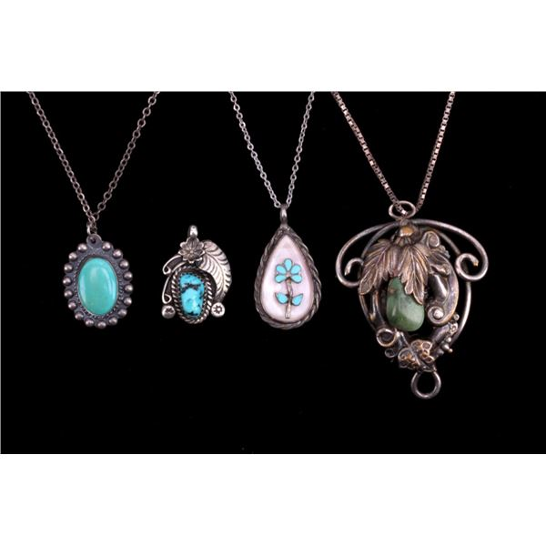Navajo Turquoise Pendant Necklace Collection