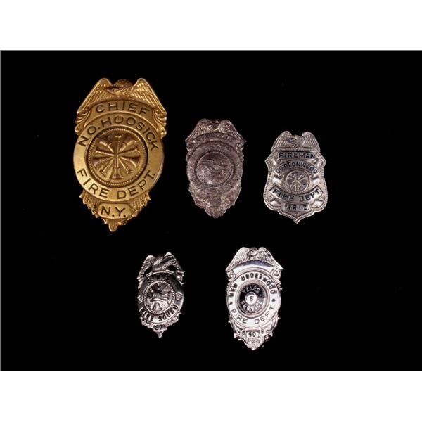 Collection of Chief & Fireman Badges (c. 1940 - )