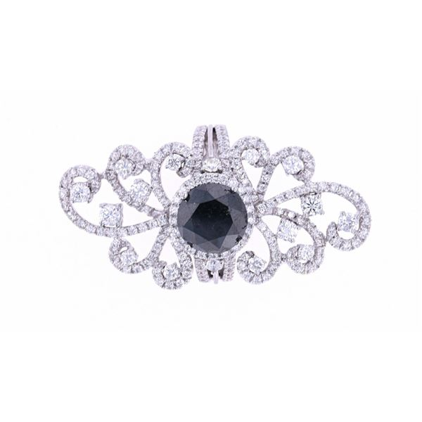 Estate Art Nouveau Black Diamond 18k Gold Ring